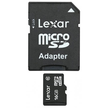 Lexar 16GB micro SDHC C10 with adapter