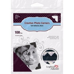 Photo corners Black 108pcs