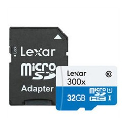 Lexar 32GB microSDHC 300x high speed su adapteriu