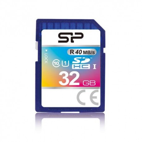 Silicon Power 32GB, SDHC UHS-I, Class 10, 40 MB/s reading, 15 MB/s writing