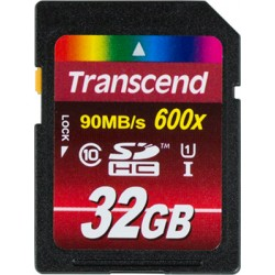TRANSCEND SDXC/SDHC 32GB CLASS 10 UHS-I 600X (ULTIMATE) memory card
